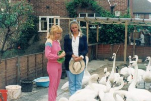 myfile myfile dot in her garden with sarah kennedy and swans